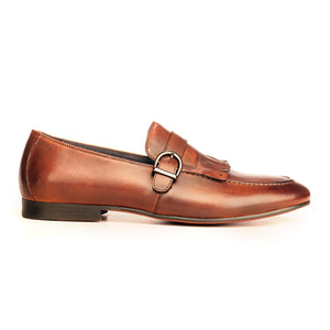 Apron Toe Loafers For Men-Taupe - Slip ons - Pavers England