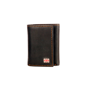 Black Formal/Casual Three-fold Leather Wallet For Men - Wallets - Pavers England