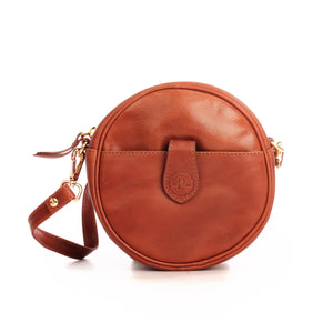Stylish Leather Sling Bag For Women-Cognac - Bags & Accessories - Pavers England