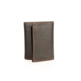 Formal/Casual Three-fold Leather Wallet For Men - Black - Bags & Accessories - Pavers England