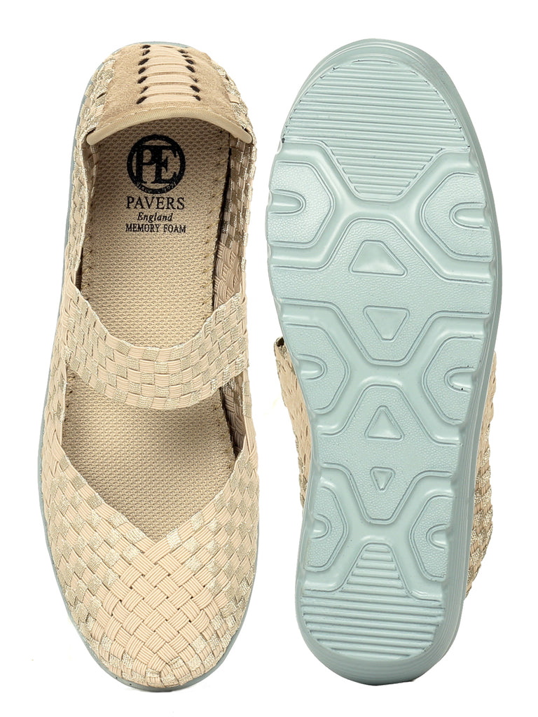 Women's Shoe - Beige - Full Shoes - Pavers England