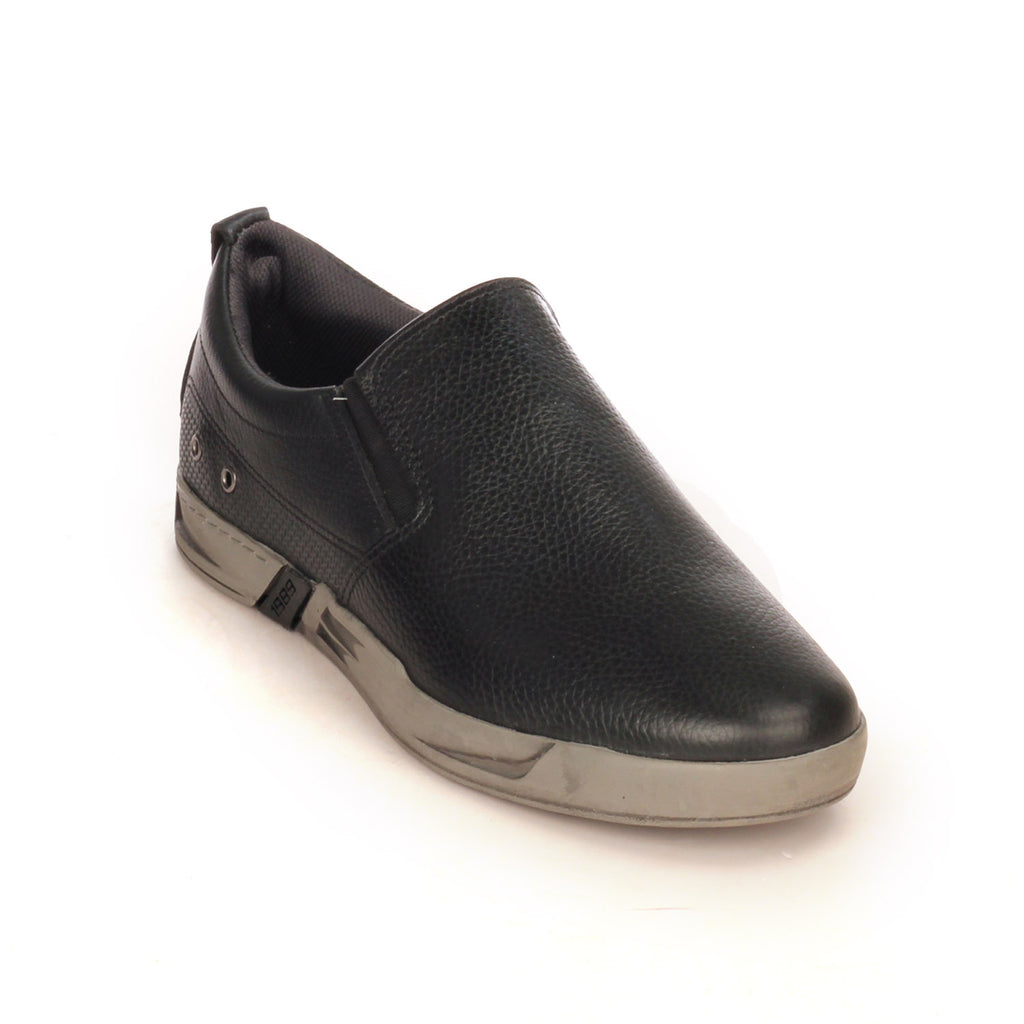 Casual Leather Loafers For Men-Black - Slip ons - Pavers England