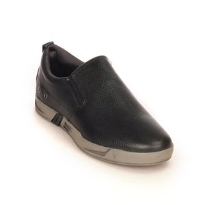 Casual Leather Loafers For Men - Black - Comfort Fits - Pavers England