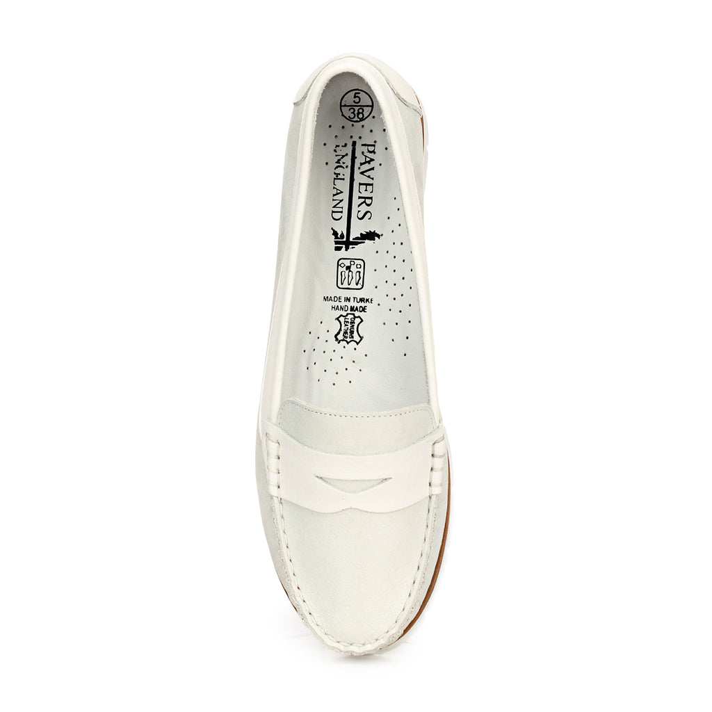 Women's Full Shoe - White - Full Shoes - Pavers England