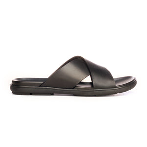 Formal Mules For Men -Black - Open Toe - Pavers England