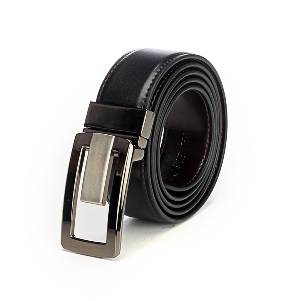 Men's Black Leather Belt - Black - Bags & Accessories - Pavers England