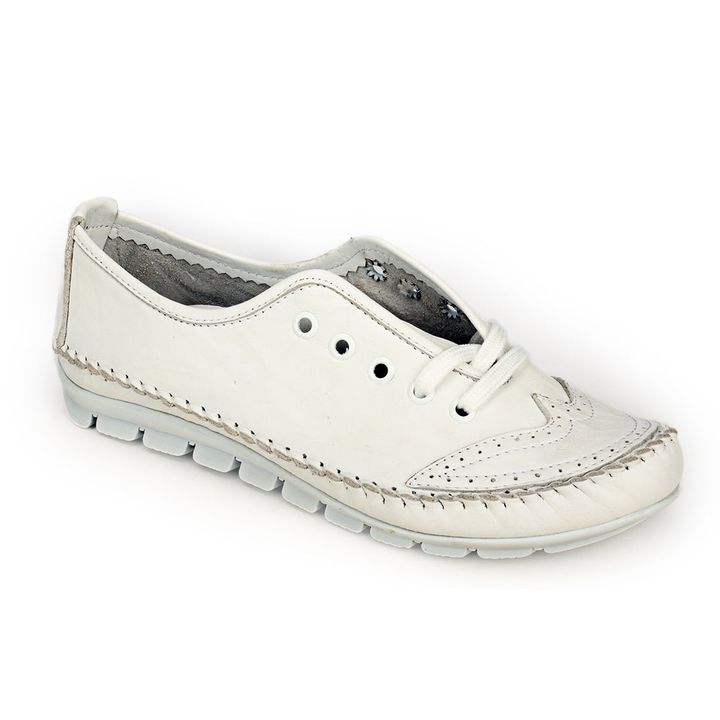 Women's Lace-up - White - Sneakers - Pavers England