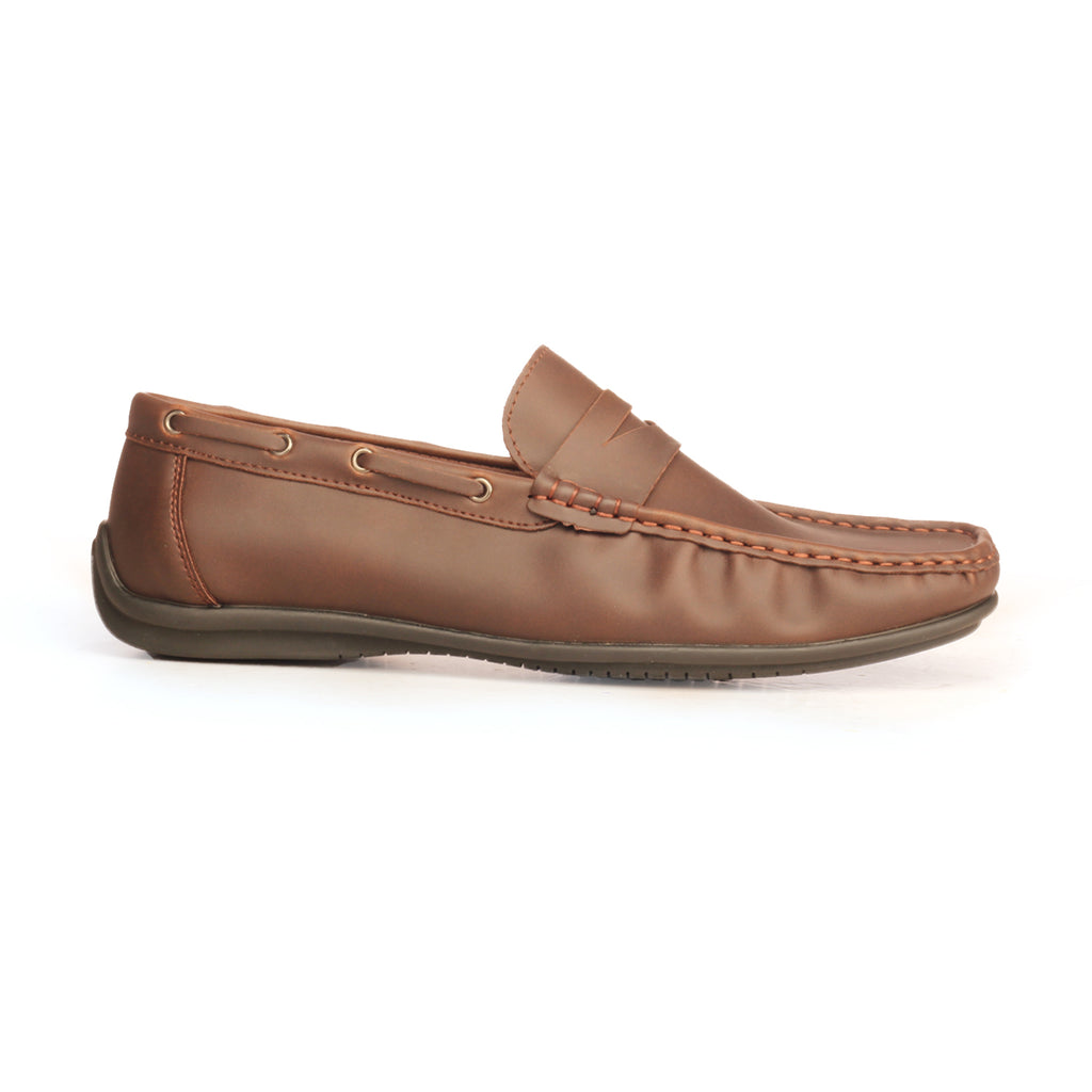 Casual Brown Loafers For Men - Coffee - Moccasins - Pavers England