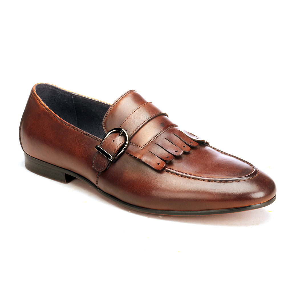 Apron Toe Loafers For Men - Taupe - Wedding & Occasion - Pavers England