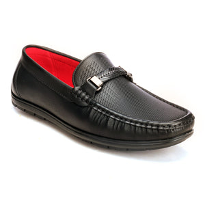 Solid Bit Loafers For Men - Black - Moccasins - Pavers England