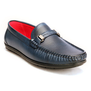 Solid Bit Loafers For Men - Navy - Moccasins - Pavers England