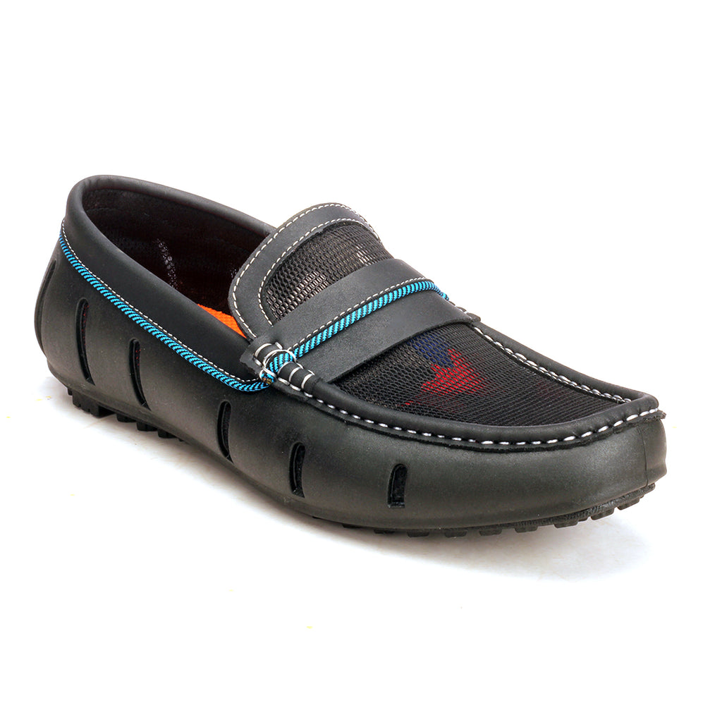 55c4f72bd3b Pavers England  Comfortable Loafers Moccasins For Men In Black Colour