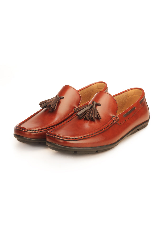 Sleek Tassel Loafer For Men - Brown - Moccasins - Pavers England