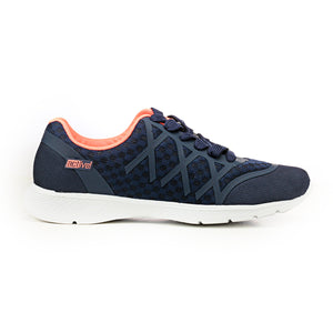 Casual Textile Lace-ups for Women - Navy - Sneakers - Pavers England