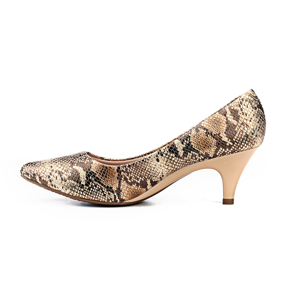 Women's Full Shoe - Natural - Heels - Pavers England