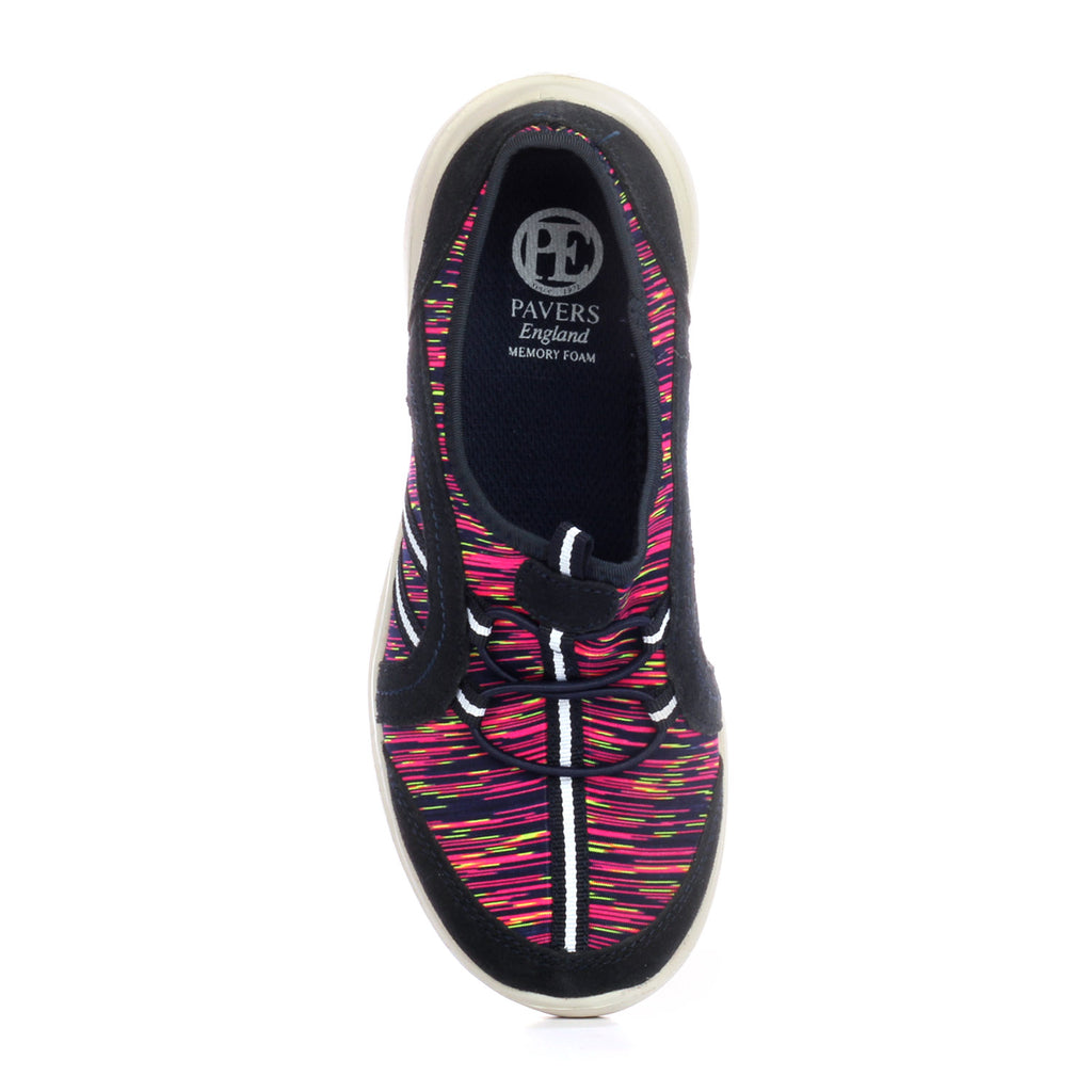 Fabric Slip-on Trainers for Women - Multi - Sneakers - Pavers England