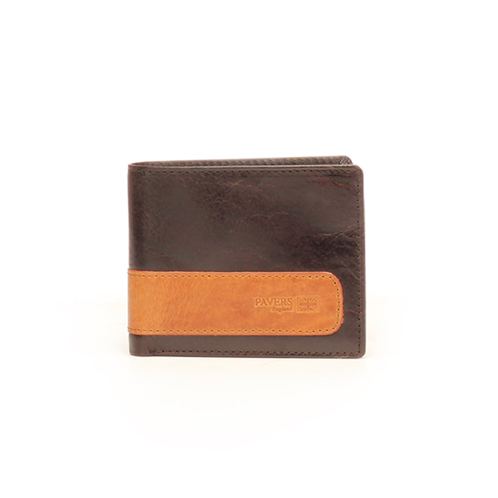 Formal/Casual Two-Fold Leather Wallet For Men - Brown - Bags & Accessories - Pavers England