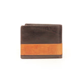 Formal/Casual Two-Fold Leather Wallet For Men-Brown - Wallets - Pavers England