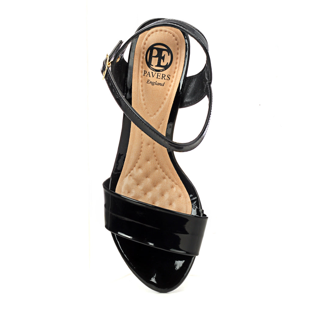 Heel Sandals with Buckle Fastening for Women-Black - Sandals - Pavers England
