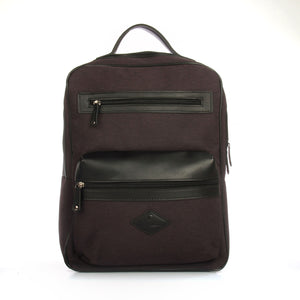 Zip pocket big bagpack-Black - Backpacks - Pavers England