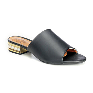 Women's Sandals - Black - Open Mules - Pavers England