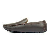 Loafers with Textured Upper-Brown - Slip ons - Pavers England