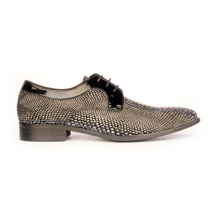 Lace-up Snakeskin Shoe For Men - Smart - Pavers England