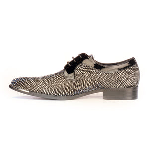 Lace-up Snakeskin Shoe For Men - Laceup - Pavers England