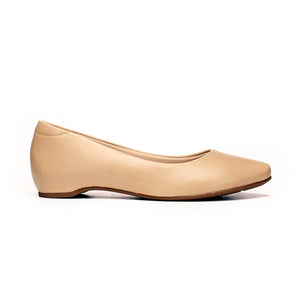 Flat Formal Bellerinas for Women - Beige - Pumps - Pavers England