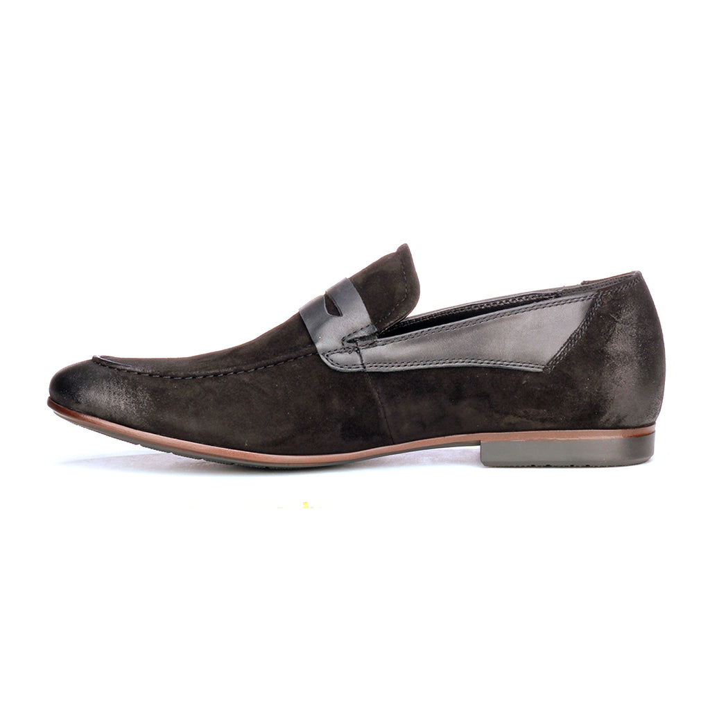 Suede Loafers For Men - Black - Wedding & Occasion - Pavers England