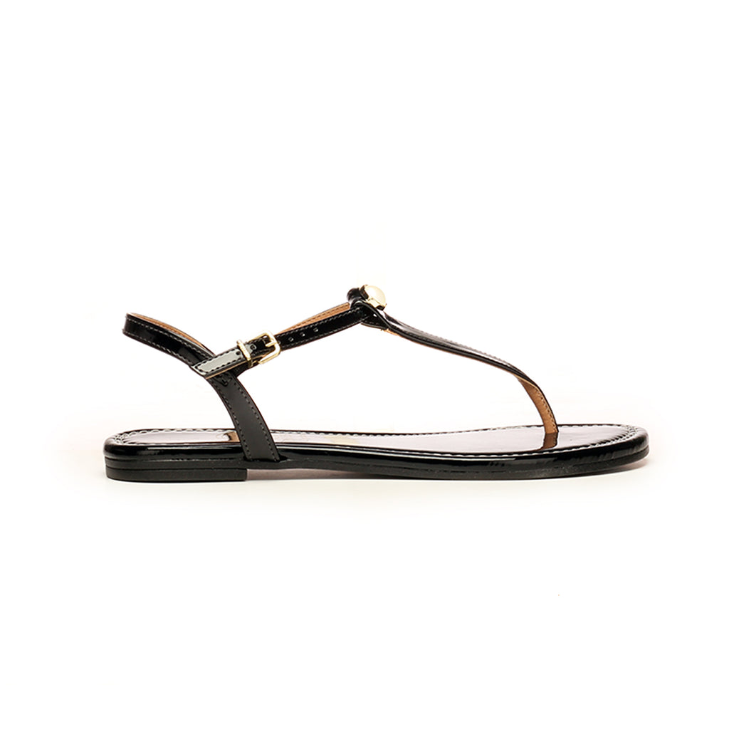 Ankle Strap Sandals with Blings for Women-Black - Sandals - Pavers England