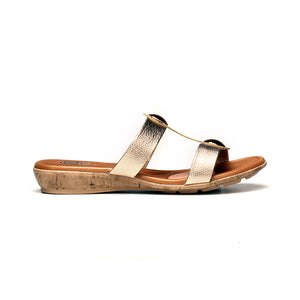 Casual T-Strap Mule Wedges for Women - Casual - Pavers England