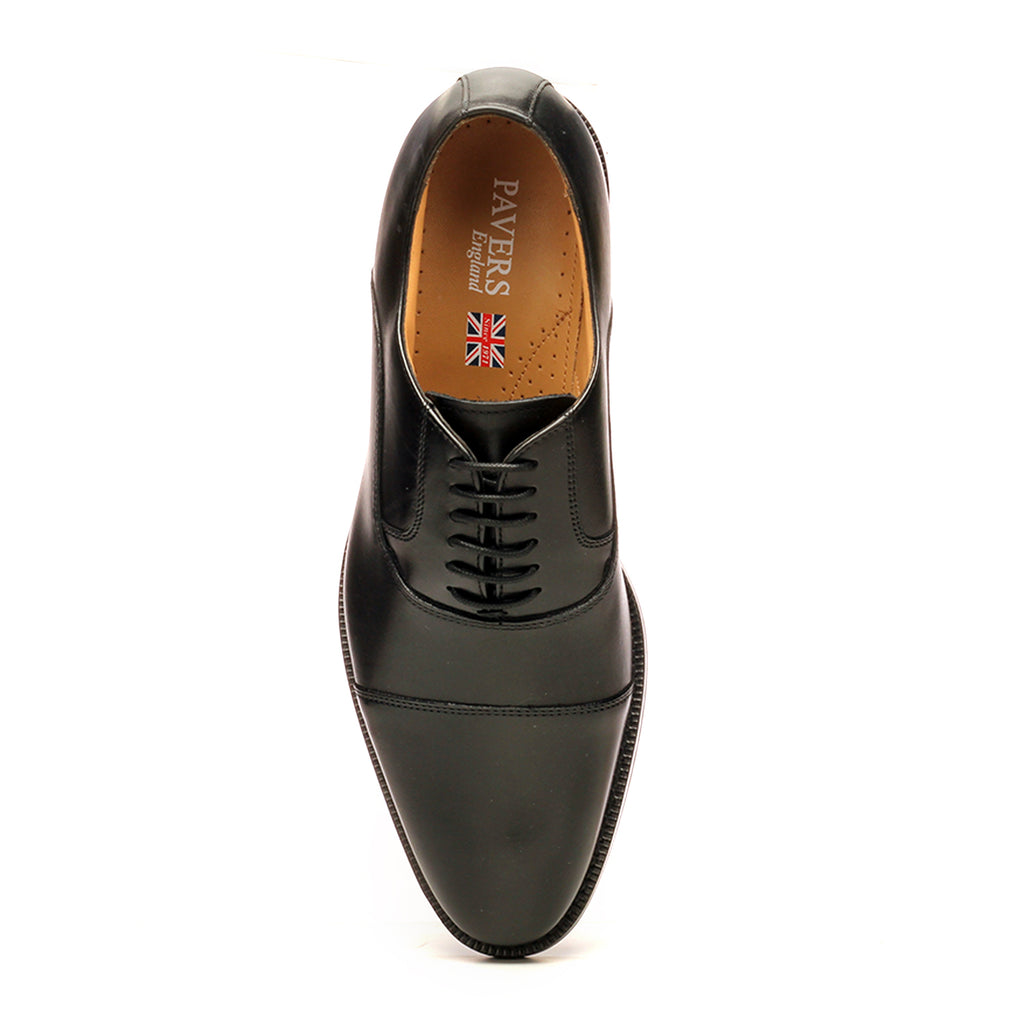 Leather Lace-up Shoes for Men-Black - Laced Shoes - Pavers England