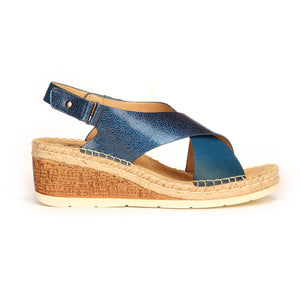Casual Velcro Strap Sandals for Women - Navy - Sandals - Pavers England