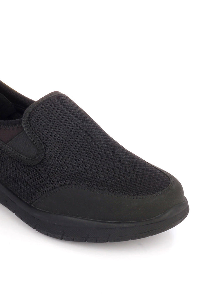 Fabric Slip-ons for Men for Casual or Festive use - Black - Sneakers - Pavers England