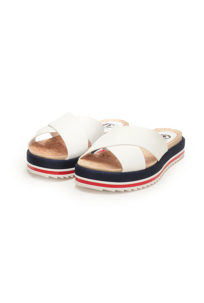 Casual Flat Mules for Women - White - Mules - Pavers England