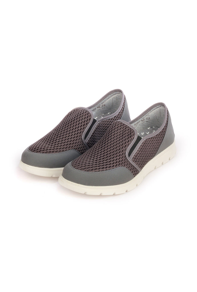 Fabric Shoes for Casual/Festive/Party/Club wear - Grey - Sneakers - Pavers England