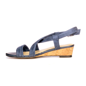 Elegant Striped Suede Sandals for Women - Casual - Pavers England