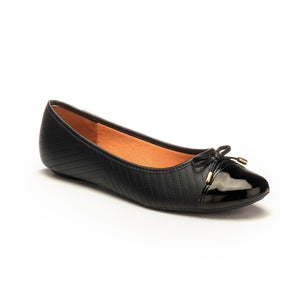 Ballerina Flats with Bow for Women - Black - Pumps - Pavers England