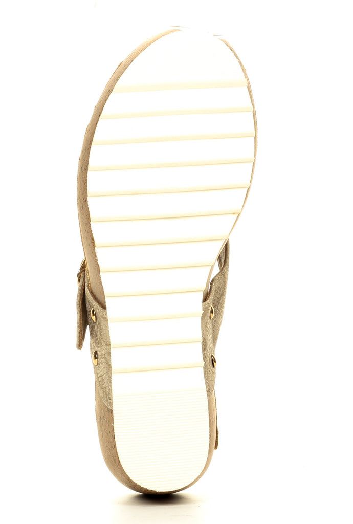 Casual Buckle Wedges for Women-Beige - Toeposts - Pavers England