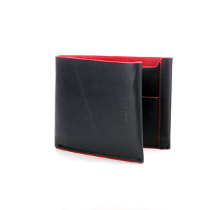 Solid Bi-fold Wallet for Men-Navy