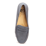 Women's Penny Loafers- Navy - Full Shoes - Pavers England