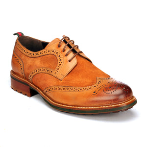 Wingtip Brogues For Men - Brown - Laced Shoes - Pavers England