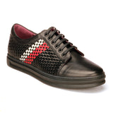 Striped And Checkered Sneakers For Men - Black - Sneakers - Pavers England