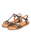T-Strapped Sandals for Women - Black - Sandals - Pavers England