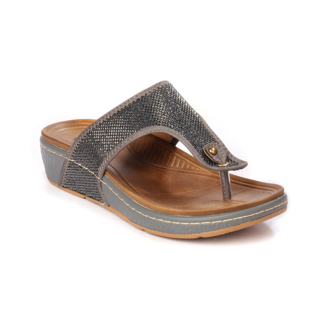 Toe Post with Medium Wedge Heel & T straps for Women - Toeposts - Pavers England