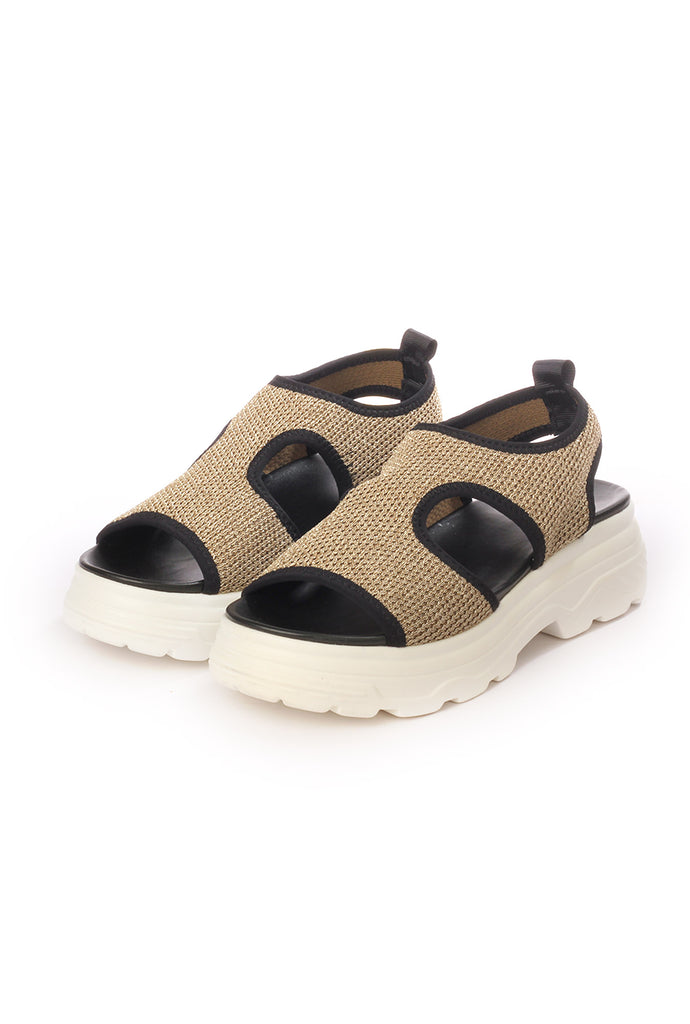 Solid Smart Sandal for Women-Gold - Sandals - Pavers England