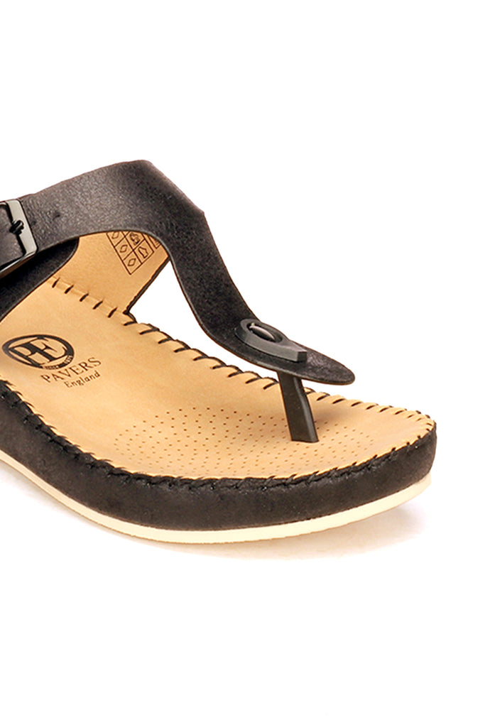 T-Strap Toeposts for Women-Black - Toeposts - Pavers England