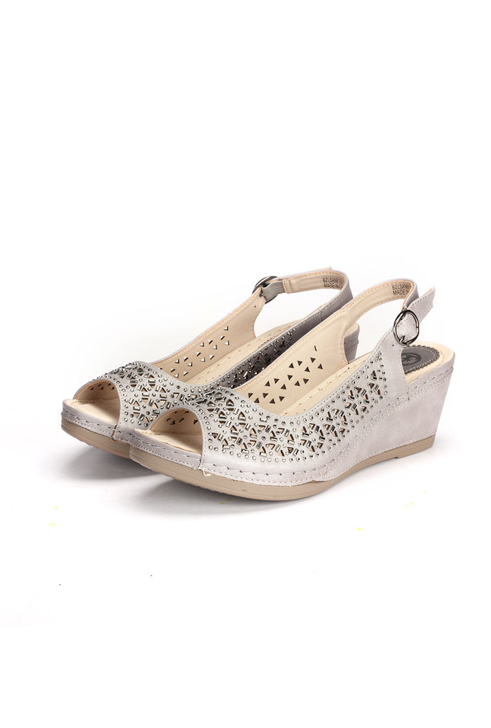 Laser Cut Wedges for Women - Sandals - Pavers England