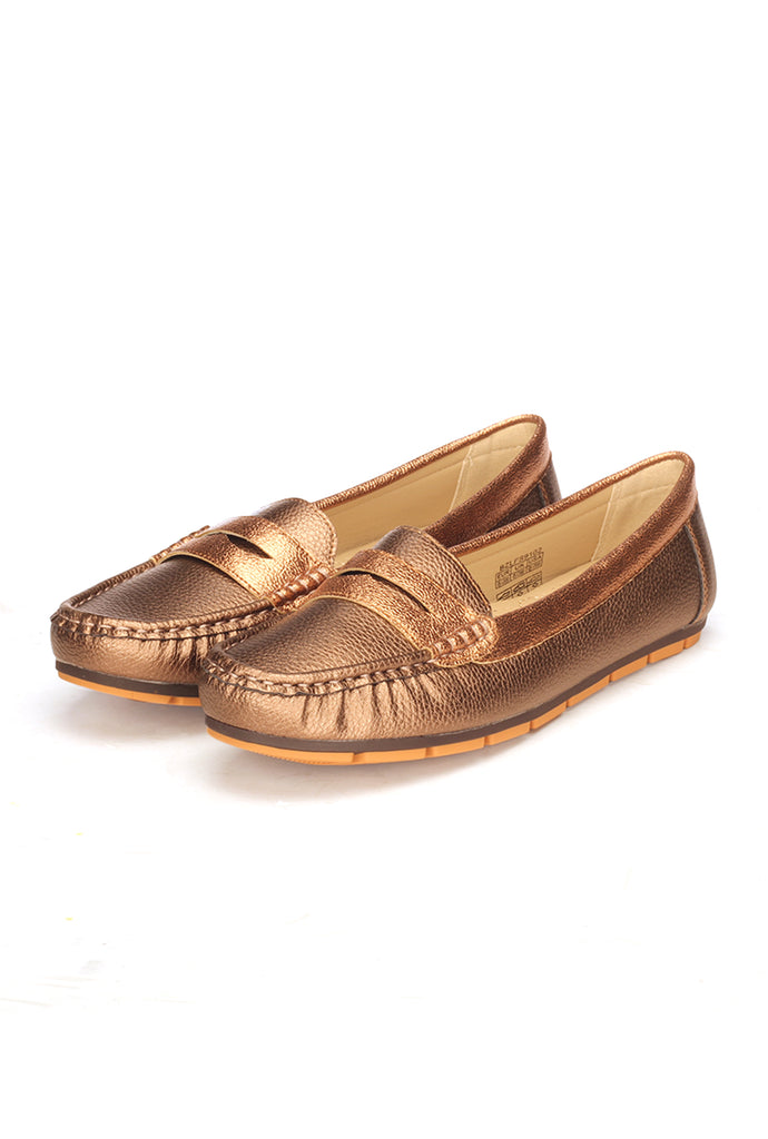 Solid Bronze Loafers